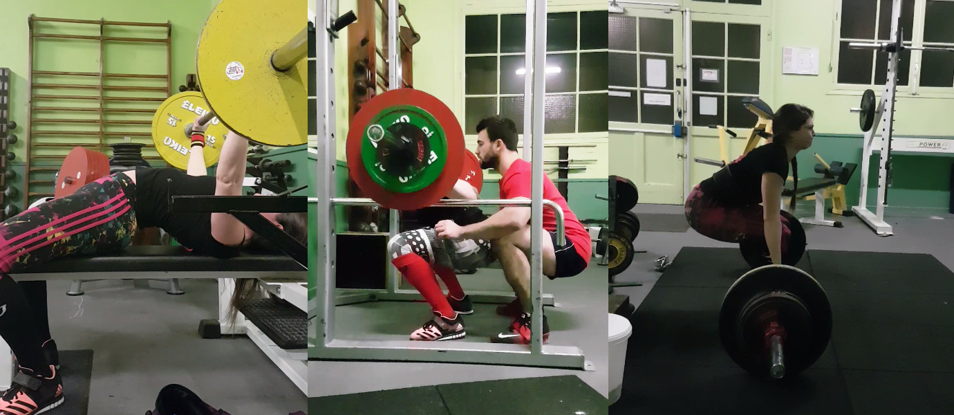 Powerlifting femme force musculation squat